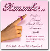 Think Pink - Promotional Product designed to create Breast Cancer Awareness while promoting your cause - message or your company - THINK PINK
