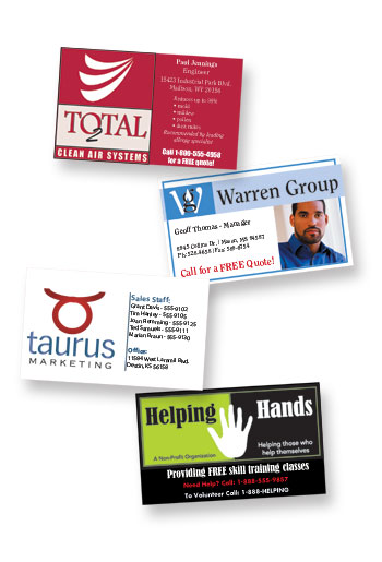 Business card magnets free 4 color process imprint reheart Gallery