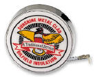 Barlow Chrome Tape Measure B37V with Your Logo Printed Barlow Lifetime Guarantee at Your Promotional Products Source ADSOURCES.com