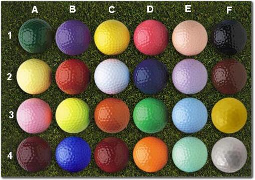 Colored Golf Balls